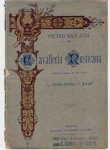 % Nausica Opera CAVALLERIA RUSTICANA Nausica Opera