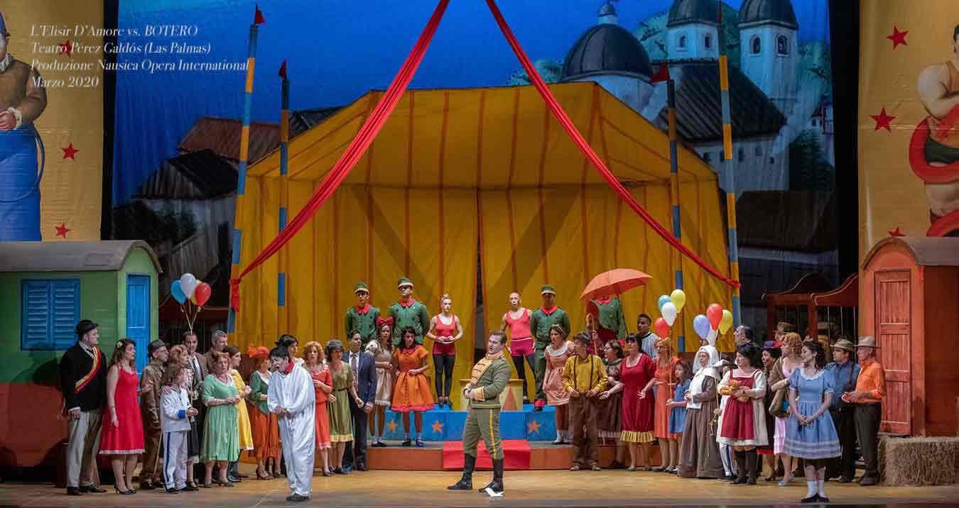 % Nausica Opera Elisir D'Amore al Teatro Pérez Galdó Nausica Opera